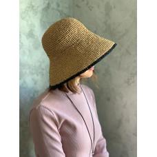 Описание  шляпы из рафии