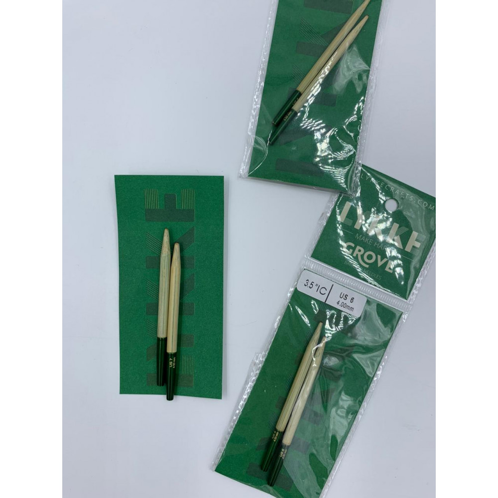 Спицы LYKKE GROVE съемные бамбуковые укороченные (7см) 4 мм