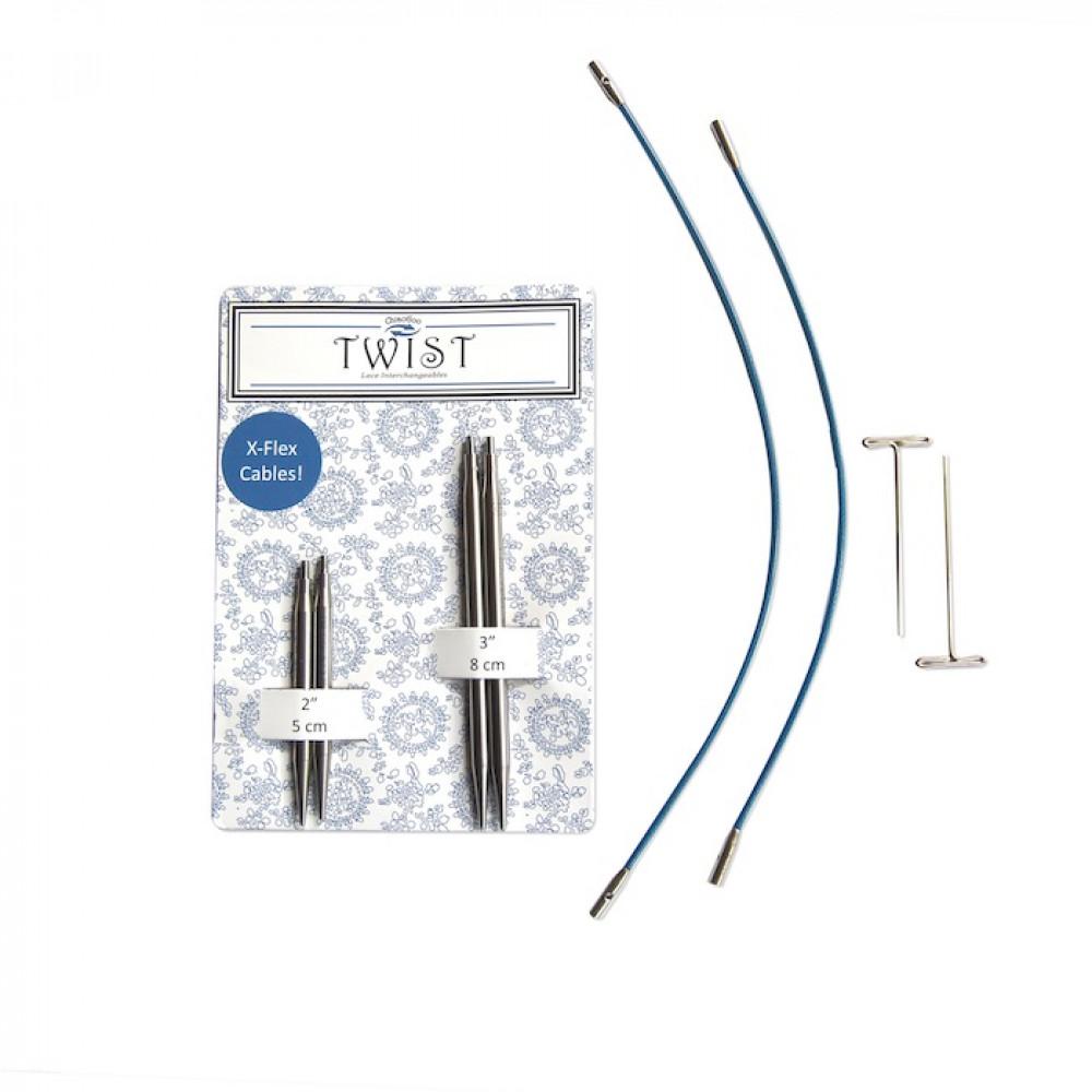 Набор ChiaoGoo Twist short combo Blue 4 мм (разъемные спицы)