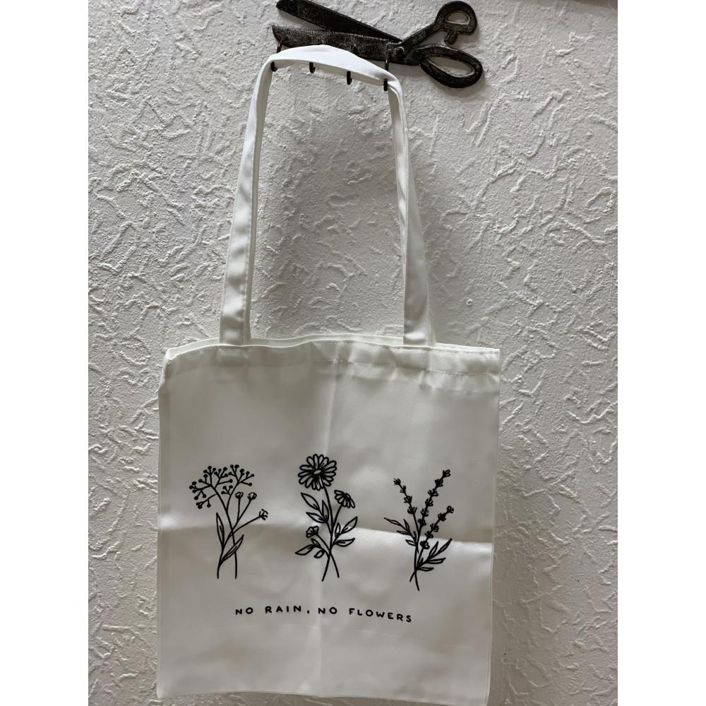 Проектная сумка Цветы 38х35 см (длина ручек 21 см)