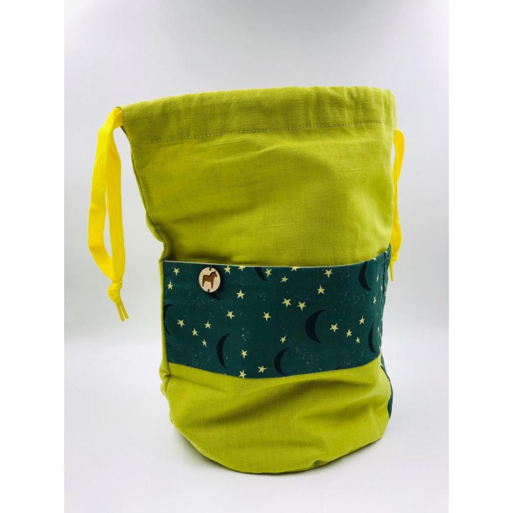 Проектная сумка для вязания (Зеленая)