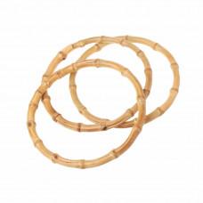 Ручка для сумок бамбуковая 12 см кольцо (1шт)
