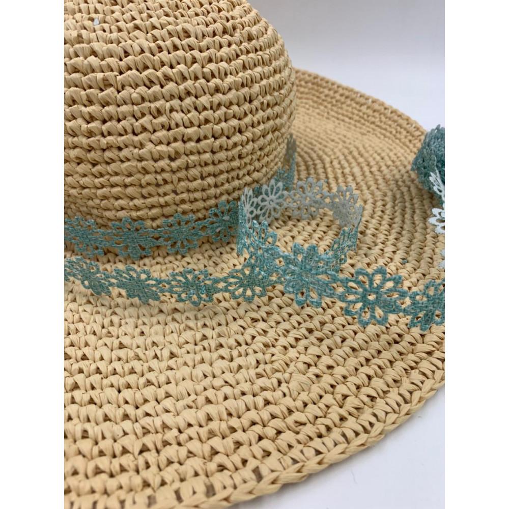 Лента декоративная (цветочек голубой)