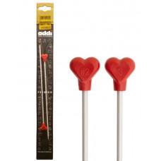 Спицы Addi прямые металлические с сердцем 3мм