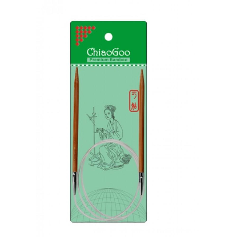 Спицы Chiaogoo Premium Bamboo на леске 80 см 4,5 мм