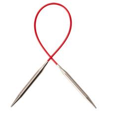 Спицы Chiaogoo Premium SS Knit Red Circular металлические на леске 23 см 3,5мм