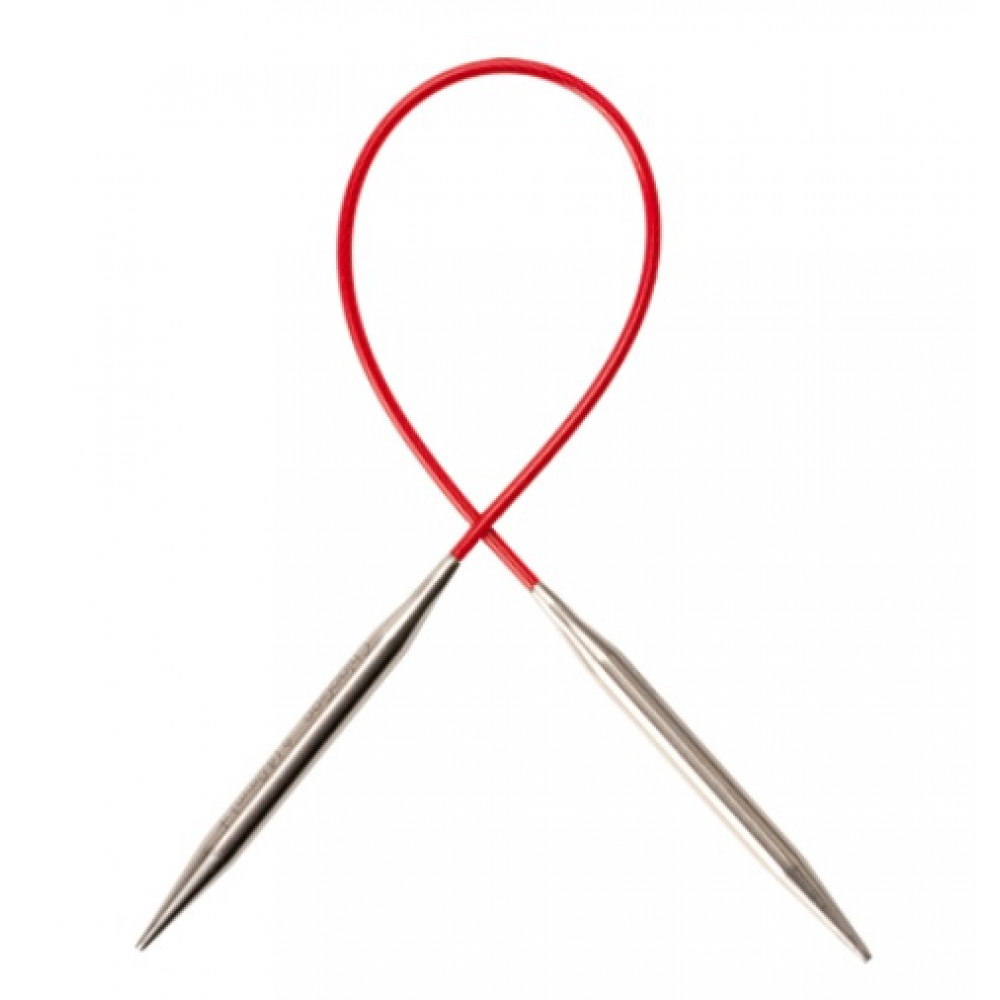 Спицы Chiaogoo Red Lace Premium SS металлические на леске 40 см 5,5мм