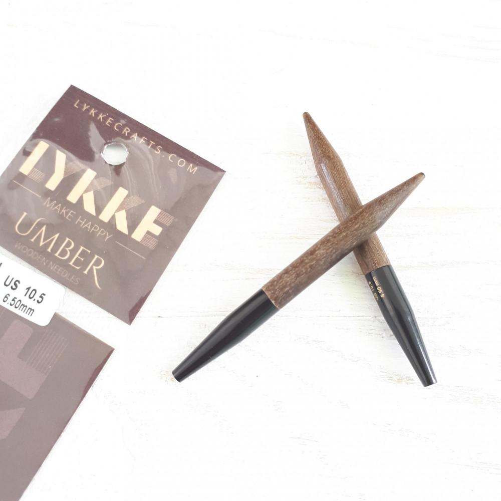 Спицы LYKKE Umber съемные 7,5м 3,5мм (укороченные)