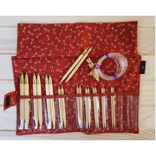 Набор Seeknit Shirotake (спицы 10см и 12,5см). Красный чехол.