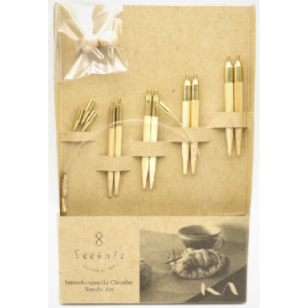 Набор Seeknit Shirotake M 5 см (4 размера спиц)