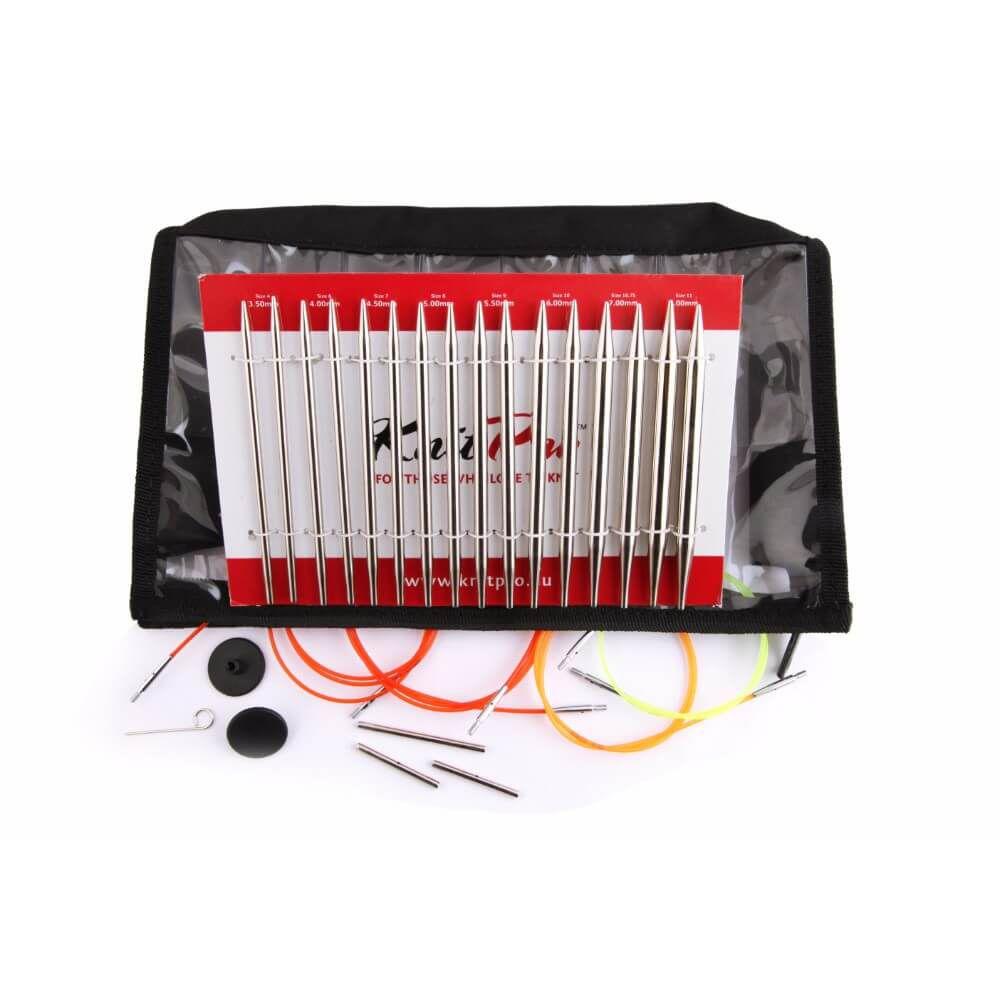 Набор Knit pro Nova Metal Interchangeable Delux Set (металлические съемные спицы)