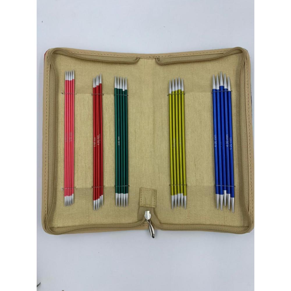 Набор Knit Pro Zing 15 см (5 размеров чулочных спиц)
