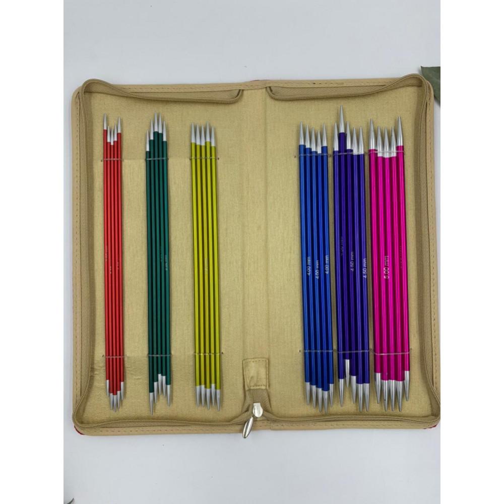 Набор Knit Pro Zing 20 см (6 размеров чулочных спиц)