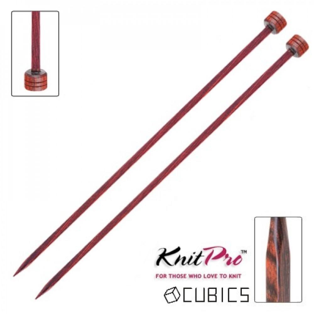 Спицы Knit Pro Cubics Simfony wood (деревянные, кубические, прямые) 3,5 мм