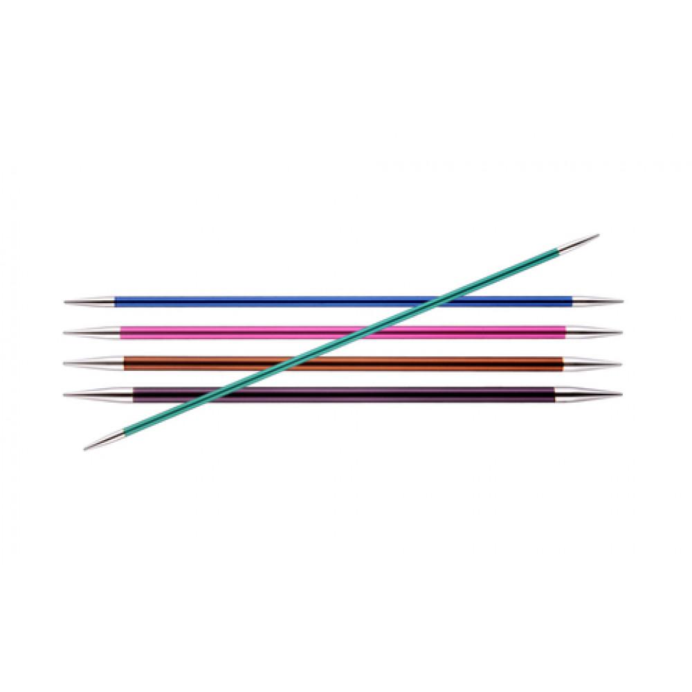 Спицы Knit Pro Zing Чулочные 15см/2 мм (металлические)