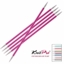 Спицы Knit Pro Zing Чулочные 20см/4мм (металлические)