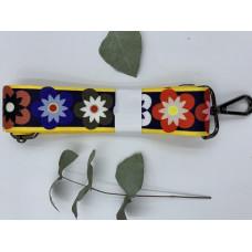 """Ремень для сумки нейлоновый с принтом """"Цветок""""  (ширина 4см, длина 140 см)"""
