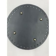 Донышко для сумки (круглое, диаметр 20 см, темно-серый)