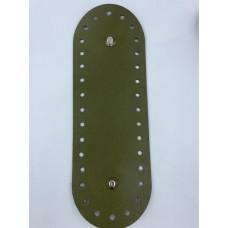 Донышко для сумки (овальное , 23х8 см, зеленый)