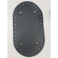 Донышко для сумки (овальное , 23х13 см, темно-серый)
