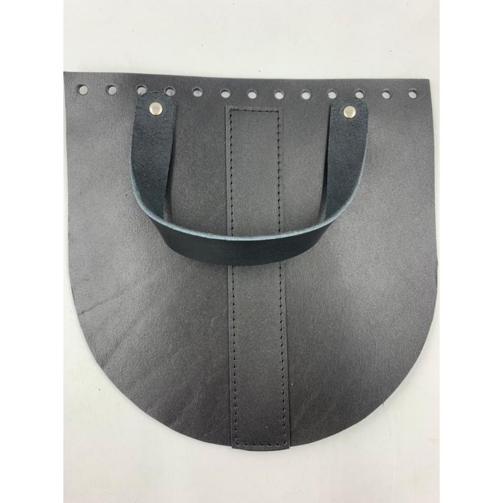 Крышка для сумки  с ручкой  и центральной полоской (черный, 20*20 см)