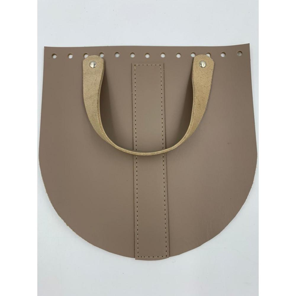 Крышка для сумки  с ручкой  и центральной полоской (тауп, 20*20 см)