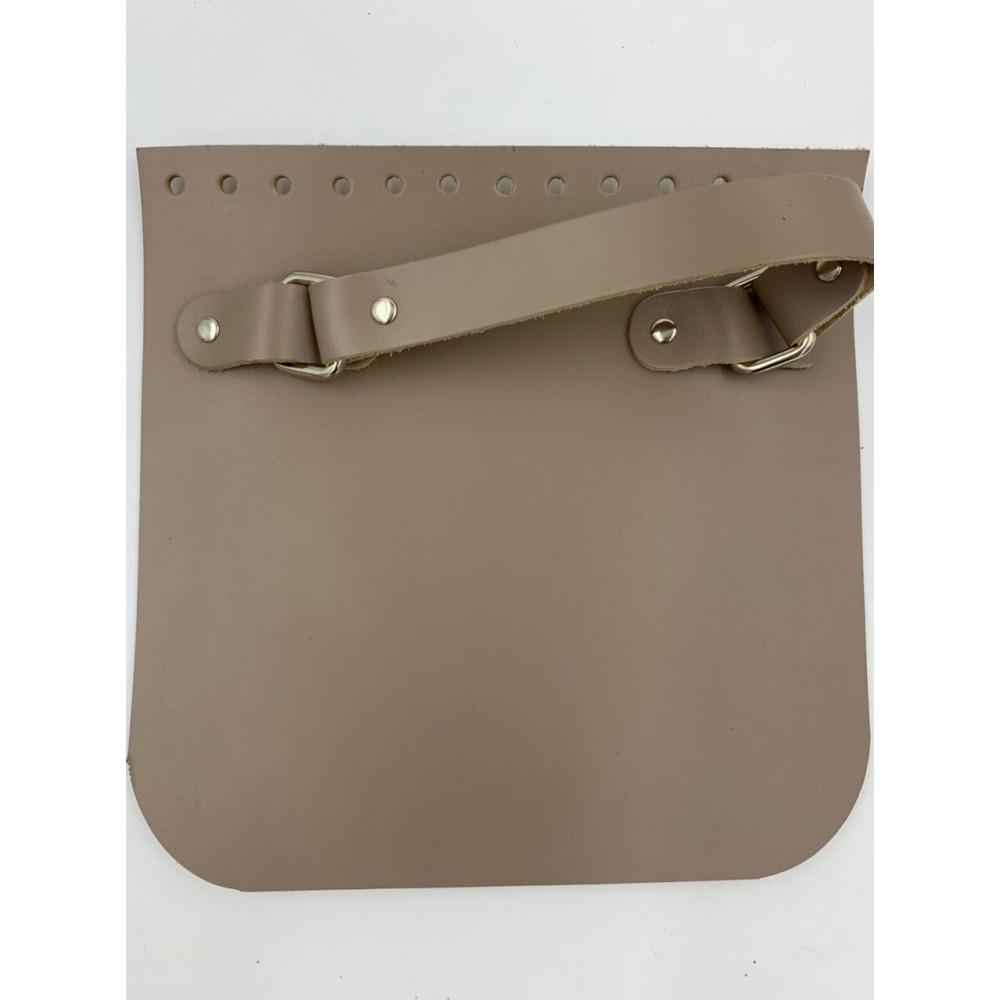 Крышка для сумки квадратная с ручкой (тауп, 20*20 см)