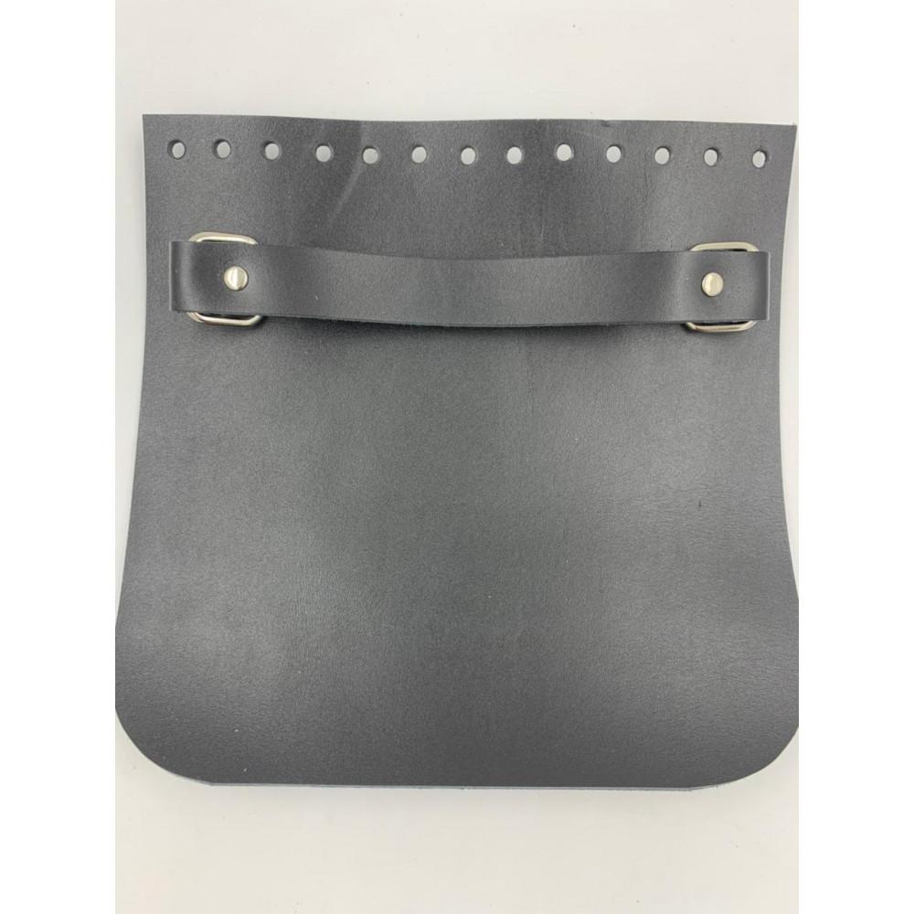 Крышка для сумки квадратная с ручкой (черный, 20*20 см)