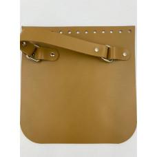 Крышка для сумки квадратная с ручкой (рыжий, 20*20 см)
