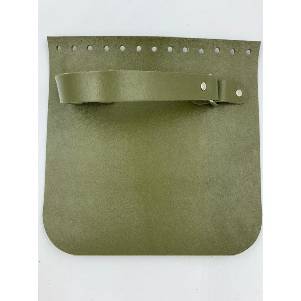 Крышка для сумки квадратная с ручкой (зеленый, 20*20 см)