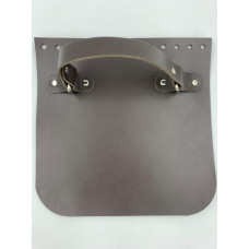 Крышка для сумки квадратная с ручкой (темно-коричневый, 20*20 см)