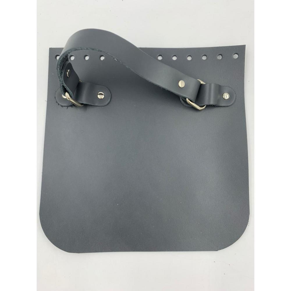 Крышка для сумки квадратная с ручкой (темно-серый, 20*20 см)