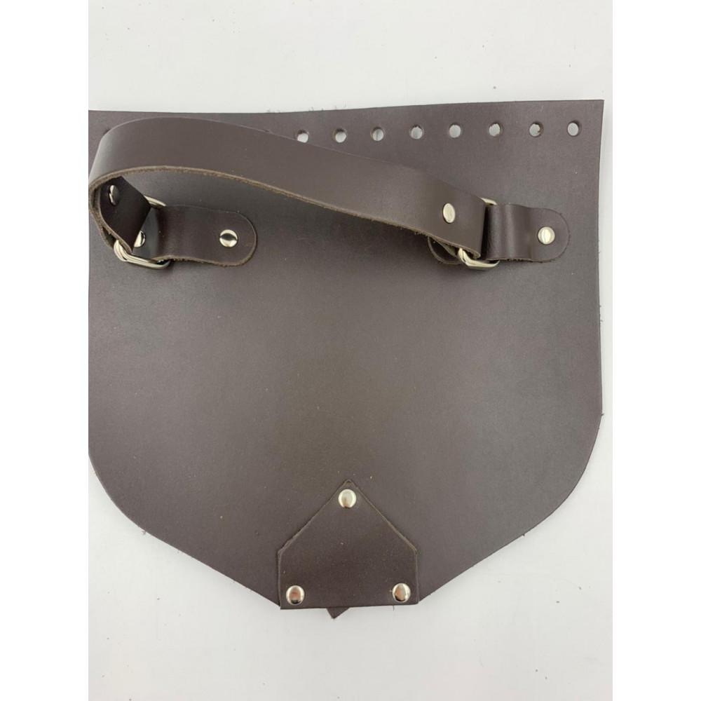 Крышка с ручкой и магнитной кнопкой (темно-коричневый, 20*19 см)