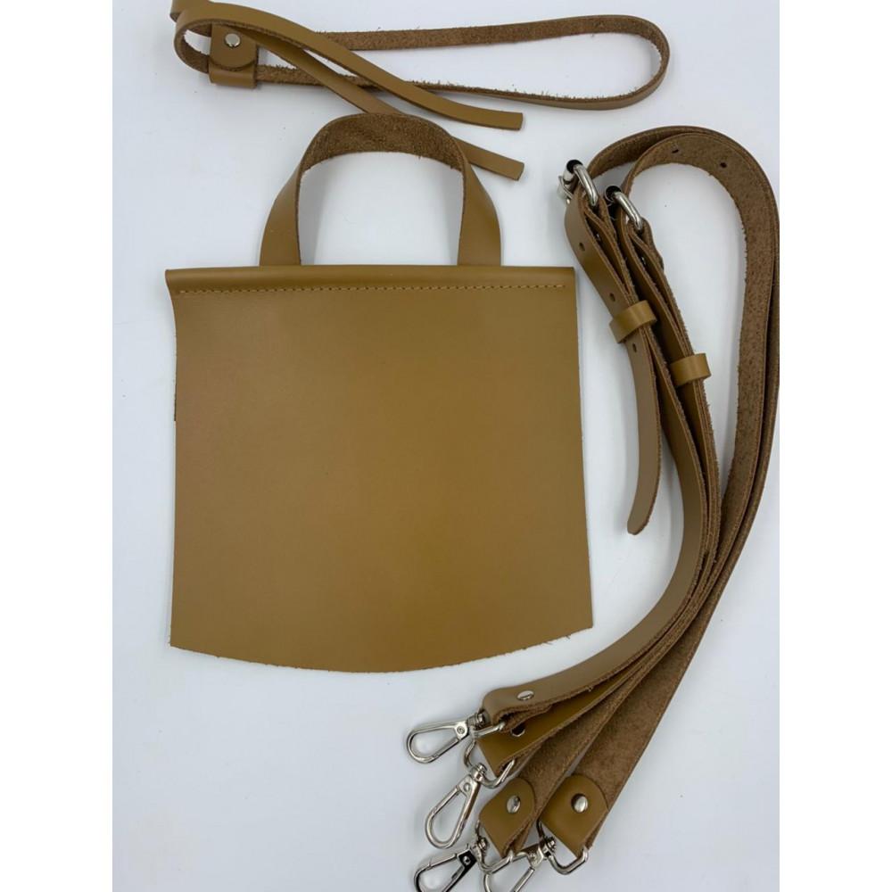 Набор для вязания городского рюкзака (лямки с регулировкой (78-88*2см), клапан 18*25 см, утяжка),рыжий