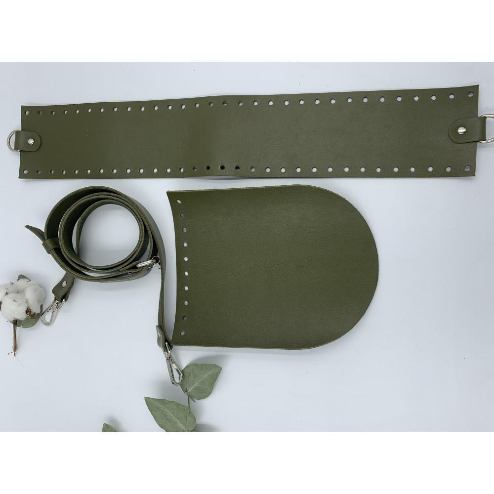 Набор для вязания круглой сумки (ремень с регулировкой, крышка овал 16*20 см, широкая боковина)
