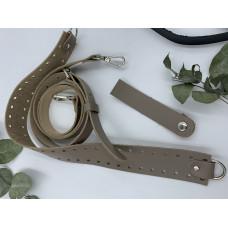 Набор для вязания круглой сумки с узкой боковиной, тауп