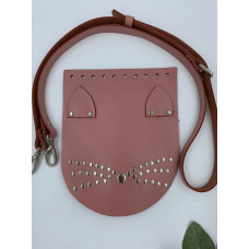 Набор для вязания сумки  (крышка-кошка+ремень), розовый