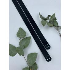 Ручки пришивные для сумки 56 см на  2 см (черный, 4 отверстия)