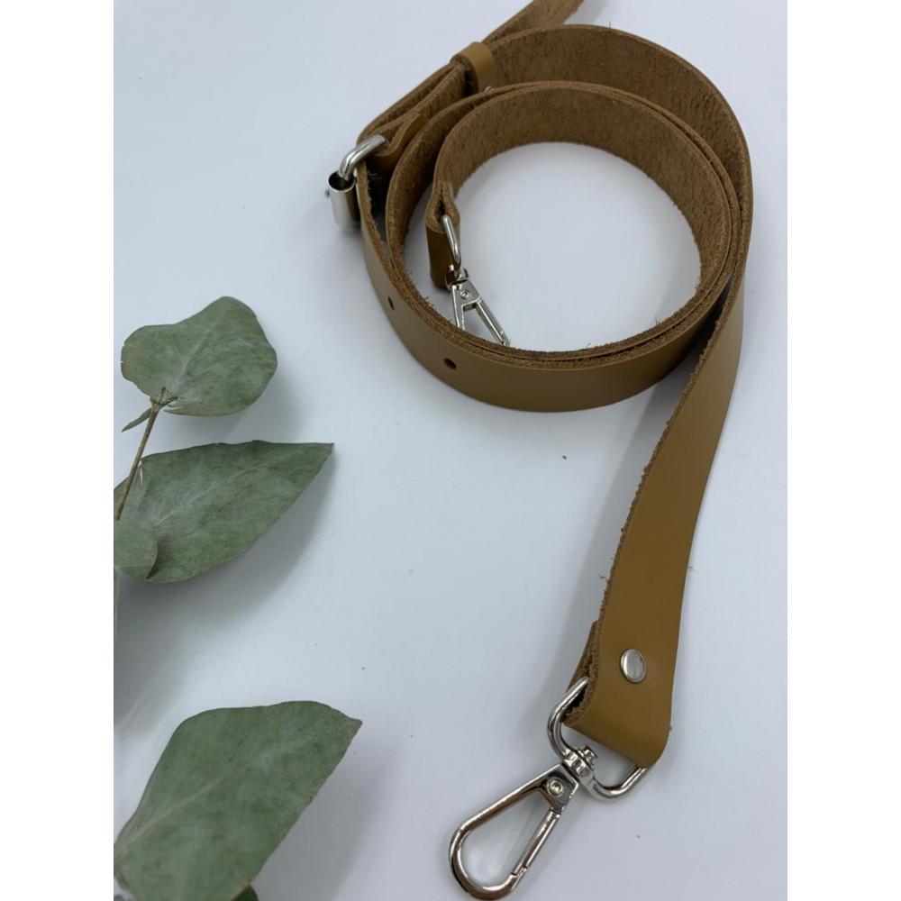 Ремень для сумки узкий 120см (Рыжий, фурнитура - никель)