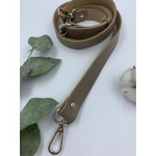 Ремень для сумки узкий 120см (Тауп, фурнитура - никель)