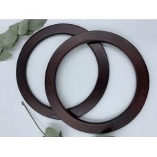 Ручки для сумок круглые плоские 19 см, пара (цвет - мокко)