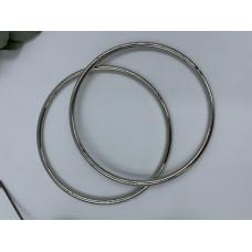 Ручки для сумок металлические, диаметр 13,5, пара (цвет -серебро)