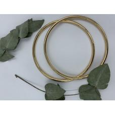 Ручки для сумок металлические, диаметр 13,5, пара (цвет -золото)