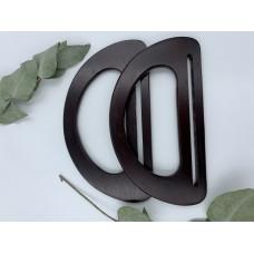 Ручки для сумок полукруг 17.5*10 см, пара (цвет - коричневый)