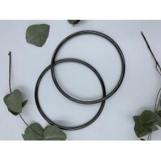 Ручки для сумок металлические, диаметр 13,5, пара (цвет -черный)