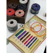 Набор Knit Pro Deluxe Set  Zing съемные (стандартные, круговые)