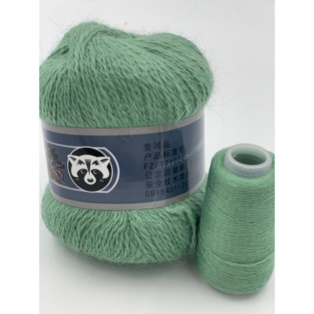 Пряжа Пух норки (032) (Серо-зеленый)