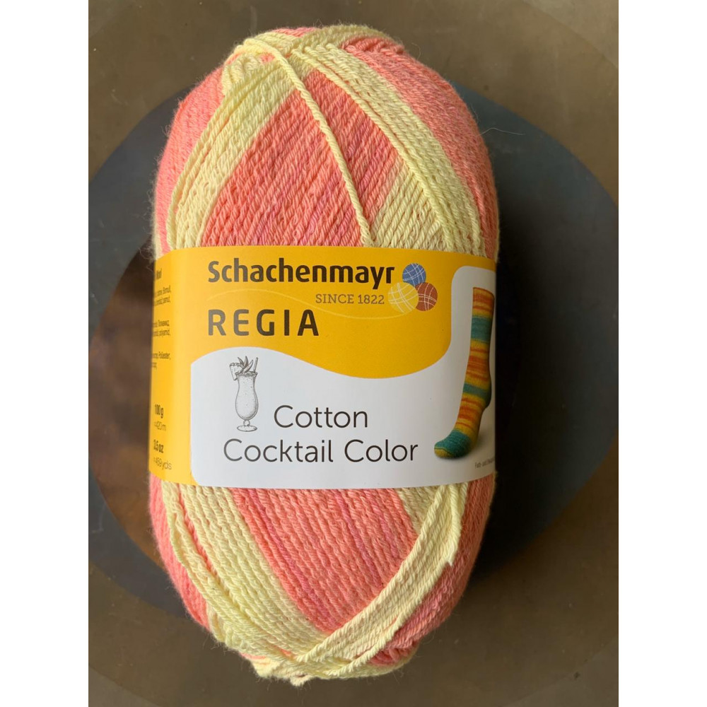 Пряжа Schachenmayr Regia Cotton Coctail Color (розовый/желтый)