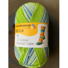 Пряжа Schachenmayr Regia Cotton Coctail Color (зеленый/синий)