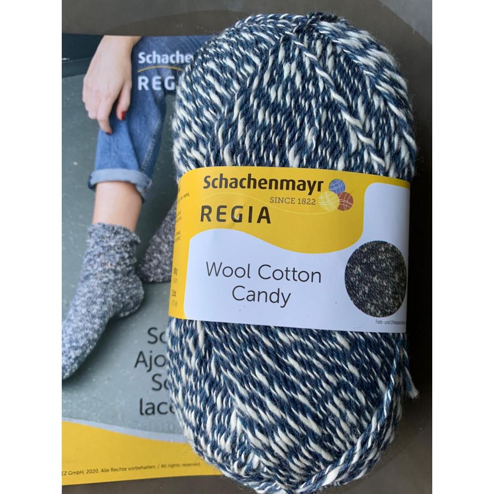 Schachenmayr Regia Wool Cotton Candy (Blueberry 02601)